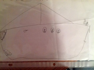 All pictures my boys draw have a sailboat. They have fallen hook, line and sinker for every bit of sailing.